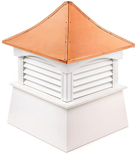 105'' Handcrafted ''Hancock'' Copper Roof Vinyl Cupola by CC Home Furnishings