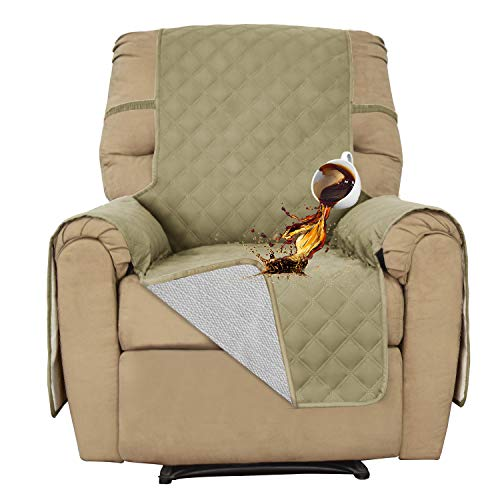 Easy-Going Recliner 100% Waterproof Sofa Slipcover Furniture Protector Couch Slipcover Pets Covers Whole Fabric No Stitching Slip Resistant Non-Slip Fabric Pets Kids Children Dog Cat(Recliner, ()