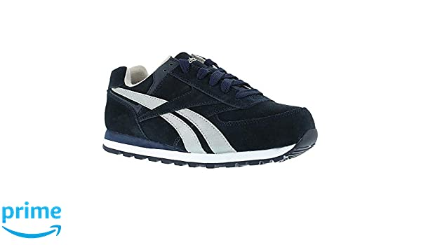 4fb103d997c8 Amazon.com  Reebok Men s Work Leelap Steel Toe Sneaker Navy Blue 14 M   Sports   Outdoors
