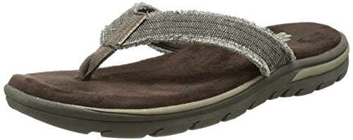 Skechers Men's Bosnia Flip-Flop,Chocolate,11 M US