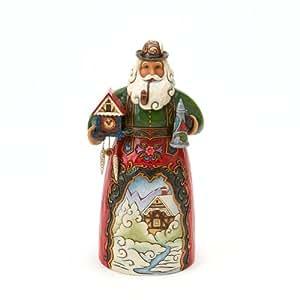 Jim Shore Christmas Heartwood Creek from Enesco German Santa Figurine 6.75 IN
