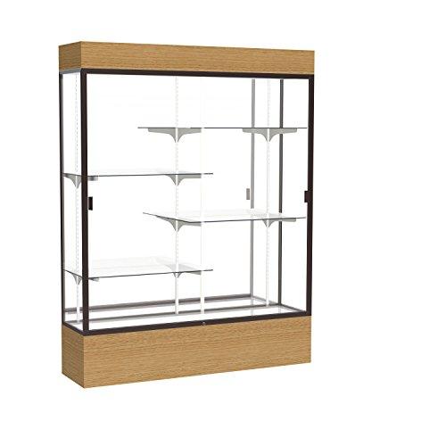Aluminum Frame Waddell (Reliant Lighted Wood Veneer Floor Display Case, 60