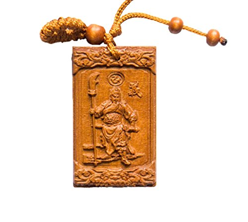 Evil Spirit Protection - Handmade Wood Fortune Protection, Good Luck Charms, Fortune Mantra Written on Back Side, Bring Good Luck in Financial and Love Life, Hand Crafted By Buddha Temple Monk's ()