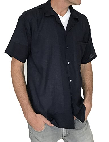 Men's Button Shirt Light Weight 100% Cotton Hippie Casual Shirts (XXX-Large, - Male Fashion Hippie