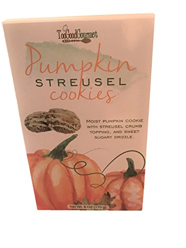 Too Good Gourmet Pumpkin Streusel Cookies! Moist Pumpkin Cookie With Streusel Crumb Topping And Sweet Sugary Drizzle! Delicious Snack You Cant Get Enough - Cookies Pumpkin Shortbread