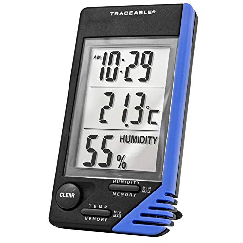 Control Company 4040 Traceable Thermometer/Clock/Humidity Monitor
