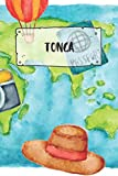 Tonga: Ruled Travel Diary Notebook or Journey  Journal - Lined Trip Pocketbook for Men and Women with Lines