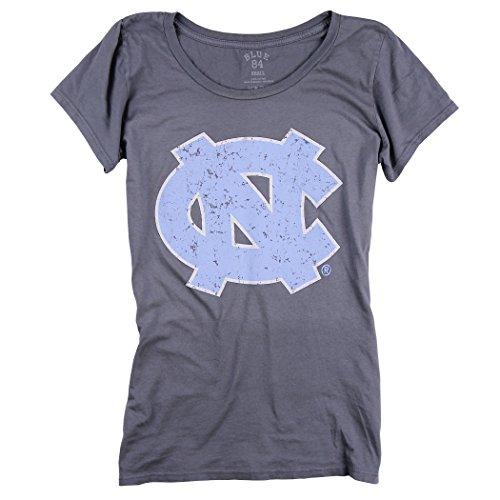 Women S Slim Fit Ncaa 100  Cotton Super Soft Mascot Logo T Shirt  North Carolina Tar Heels  Small