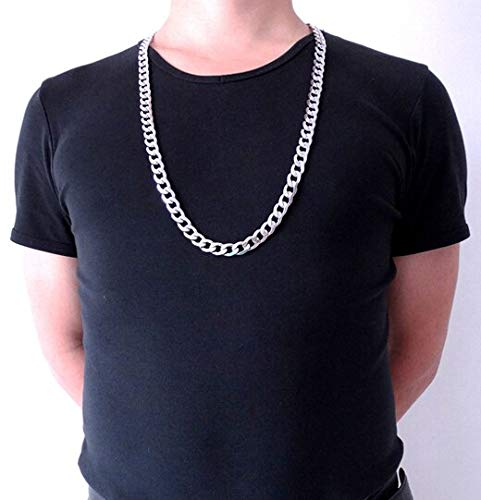 (Customize Size Mens Stainless Steel Necklace | Curb Cuban Link Chain | Fashion Jewerly 12mm 18'' - 36'' Inches)