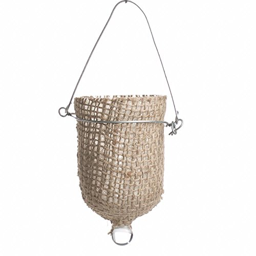 Group of 6 Hanging Natural Burlap Covered Glass Candle Holders Perfect for Weddings, Home Decor and Creating