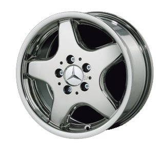 Mercedes Benz Rims >> Amazon Com 17 5 Spoke Amg Style Chrome Wheels For Mercedes