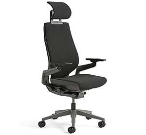 Steelcase gesto para silla de oficina con reposacabezas bajo negro frame duro suelo caster - Reposacabezas silla de ruedas ...