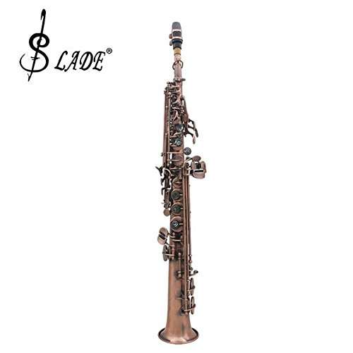 LADE WSS-899 Copper Soprano Bâ­ Saxophone Carved Abalone Shell Key by SOUND HOUSE 48 (Image #1)