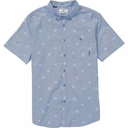 Billabong Men's Sunday Mini Short Sleeve Shirt, Light Blue, (Billabong Blue Shirt)