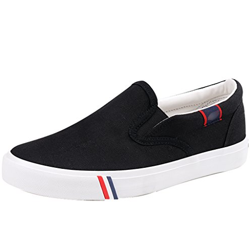 stile basse uomo Black Scarpe Nuovo Espadrillas 44 Color scarpe tela pedale YaNanHome casual Black Size moda casual Scarpe da 5ZHIYqHw