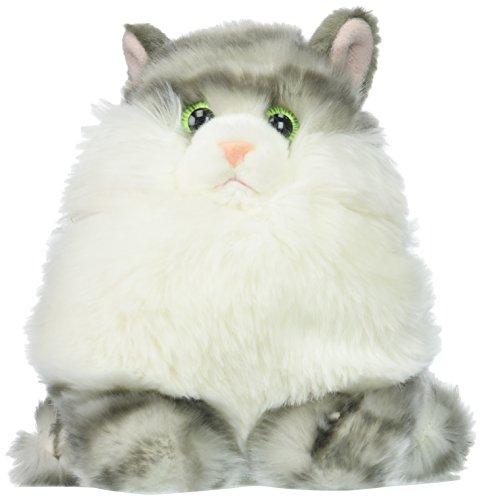 Aurora World Fat Cats Plush Toy Animal, Dumpling Tabby
