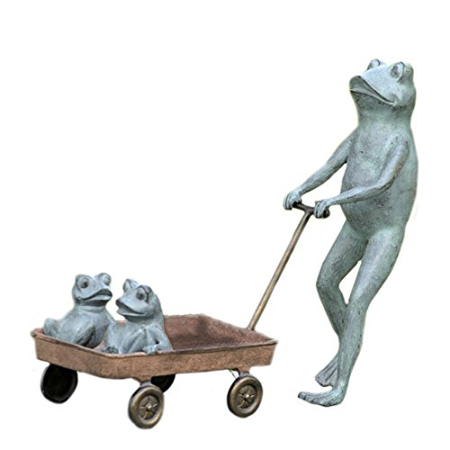 SPI Home Frog Family with Wagon Planter