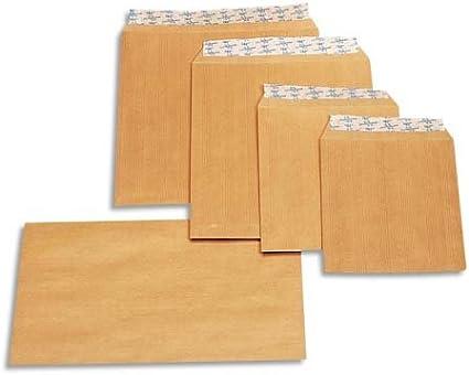 La Couronne Kraft - Caja de 500 sobres autoadhesivos (162 x 229 mm ...