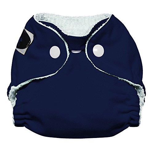 Imagine Baby Products Newborn Bamboo AIO 2.0 Diaper, Snap, Navy Fleet