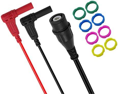 Instrumento test multi Conductores Sonda de prueba Kit BNC Plug a derecha plátano Enchufe en ángulo cable coaxial de prueba del osciloscopio 100cm plomo tira llevada conector para los ensayos eléctric: Amazon.es: