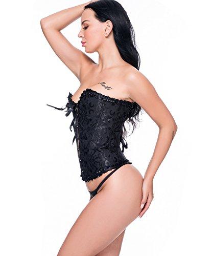 Beauty-You Mujer Gótico Corsé Formación Novia del overbust Bustier Plus tamaño Modeladoras Morado