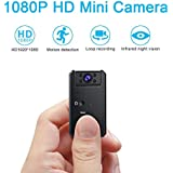 C-Xka Mini Hidden Camera 1080P HD Tiny IP Camera Video Recorder 140° Wide-View-Angle Wireless WiFi Spy Camera Security Camera Remote View Motion Detection (Size : 64G Memory Card)