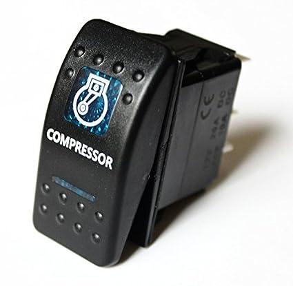 BANDC azul Compresor Rocker Interruptor ARB Lightforce Gu GQ 80 Hilux Jeep Nissan SPST ON-