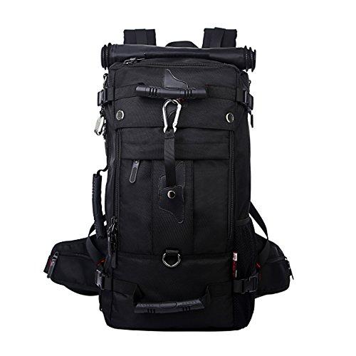 KAKA Large Travel Backpack Latop Bag Shoulder Bags Outdoor Sports Camping Bag For 17 Inch Laptop(Black)