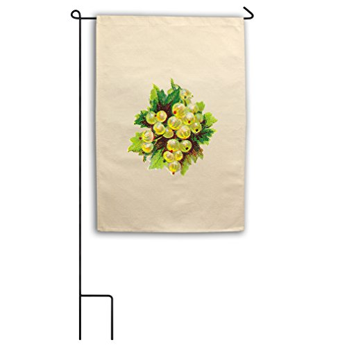 "Style in Print Canvas Yard House Garden Flag 18""X27"" Green G"