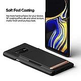 Galaxy Note 9 case, VRS Design [Matte Black] Semi-Automatic Sliding Wallet Phone Case Damda Glide D.Wallet