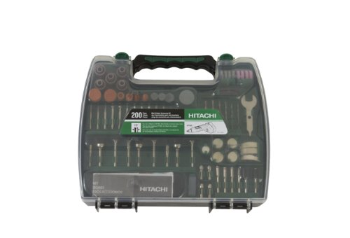 Hitachi 115005 Rotary Tool Accessory Kit, 200-Piece (Discontinued by the Manufacturer)