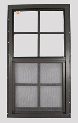 Shed Window 14 X 27 Brown Flush Safety Glass Playhouse for sale  Delivered anywhere in USA