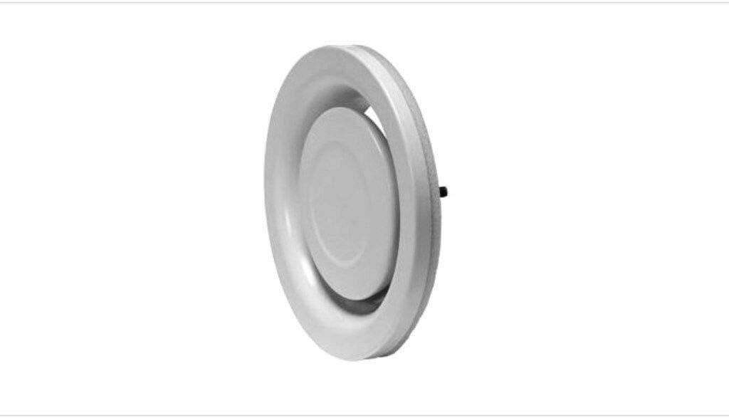 DN 125 mm incl Einbaurahmen wei/ß DN 100//125//160//200//250mm Ablufttventil,Tellerventil