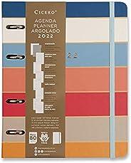 Agenda Planner Argolado 2022 Orla Semanal Notas A5 Arpoador Listras