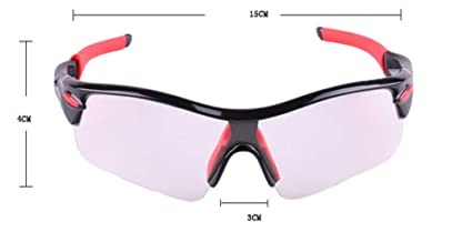 0f194421b3 APJJ Gafas de Sol fotocromáticas Ciclismo Motocicleta, Gafas de Sol  montadas en Color Lentes de Cambio de Color Protección UV a Prueba de  Viento Ciclismo de ...