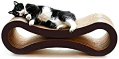 Tired of purchasing cat products that your feline loved ones get bored of, quickly? PetFusion's Cat Scratcher Lounge serves double duty as both a cat scratcher and lounge that promises to keep your finicky companions coming back for more. Cus...