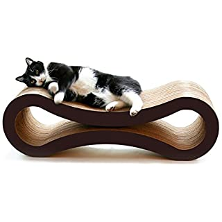 PetFusion Cat Scratcher Lounge - Walnut Brown, 1 Level (PF-CL1)
