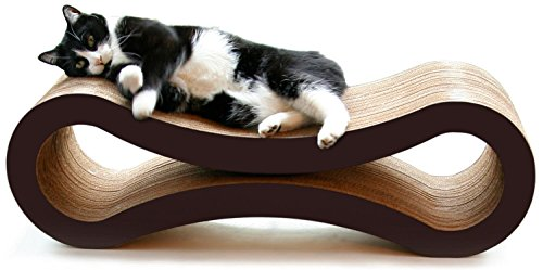 PetFusion Cat Scratcher Lounge - Walnut Brown, 1 Level (PF-CL1)