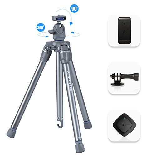 Fotopro Lightweight Camera Tripod Entry Level Tripod with Ball Head for DSLR Camera, Digital Camera, Gopro, Smartphone (Grey+Blue) (The Best Entry Level Dslr)