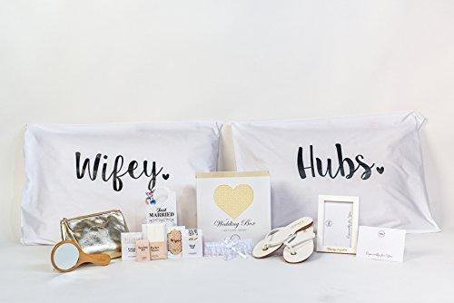 InLove Wedding Box Bride Survival Accessory Essential Kit Bridal Shower Bachelorette Party Emergency Gift (Flip Flops 8.5-10 US, Romantic) Bride Kit