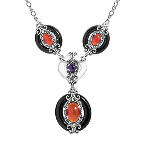 Carnelian White Necklace - 8