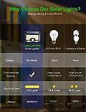 Solar Motion Sensor Light Outdoor,New Upgrade 128