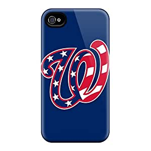 Great Hard Phone Cover For Iphone 4/4s (jgw14042vpxU) Unique Design Colorful Baseball Washington Nationals 1 Skin