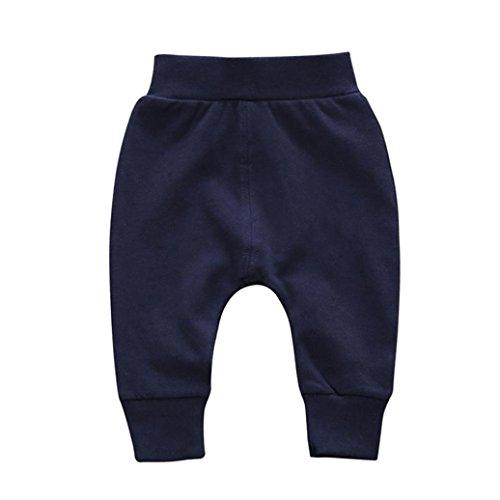 (Baby Pants,❤️ Infant Toddler Boy Girl Solid Pencil Pants Warm Cotton Leggings Autumn Winter Bottoms Trouser 0-2T (12-18 Months,)