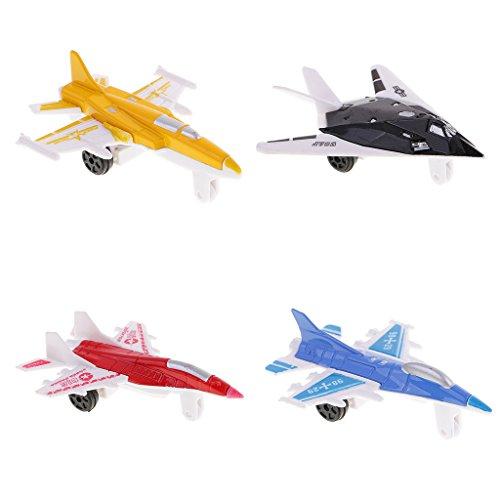 Lovoski  金属 ダイキャスト おもちゃ 飛行機 4軍 ジェット セット