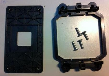 AMD Back Plate and Four Screws Included CPU Fan Bracket Base for FM1 Socket