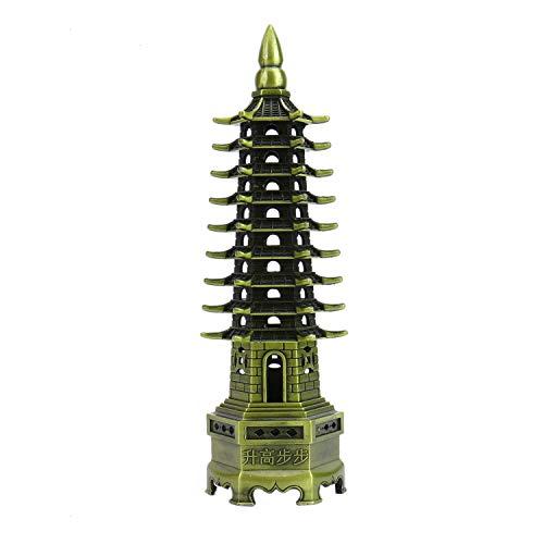 Monrocco Metal Wenchang Pagoda Tower - Feng Shui Education Tower - Statue Decoration Metal Handicraft