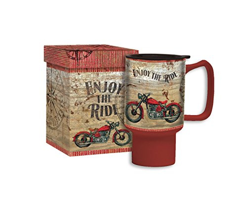 Lang 2127028 Vintage Motorcycle Travel Mug by Tim Coffey, Assorted