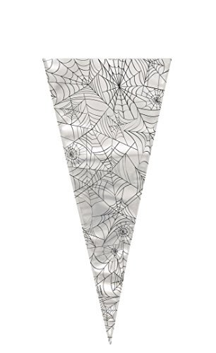 (Spider Web Halloween Cone Cellophane Bags by Unique)