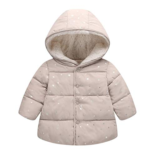 Evelin LEE Unisex Baby Winter Warm Coat Button Jacket Thick Outwear Hooded Snowsuit